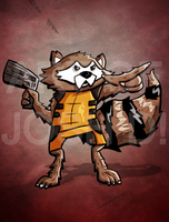 Rocket Raccoon by joshisterrific