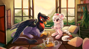 Commission 18 - Tea Time by The-Keyblade-Pony