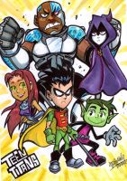 Teen Titans by Djiguito