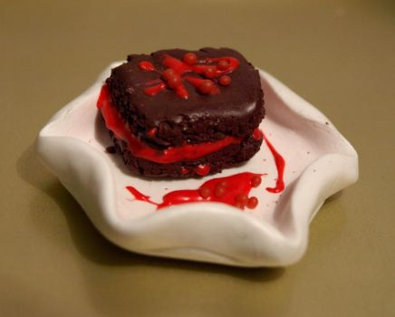 Fimo pie_Choco and redcurrant by serenainwonderland