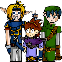 marth,link and roy by oceanweapon