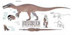 Baryonyx Model Sheet - Body by Kronosaurus82