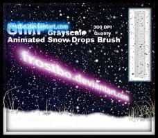 Animated Snow Brush for GIMP by FrostBo
