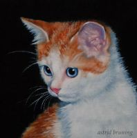 My Clawed (Monet) - Miniature Oil Painting by AstridBruning