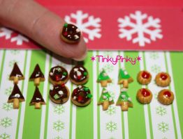 Christmas miniature sweets by tinkypinky