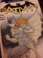 batgirl sketch cover by Sajad126