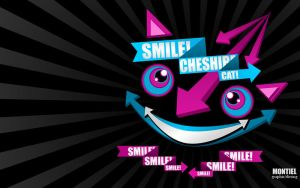 Smile Cheshire Cat Wallpaper by Luis-Montiel