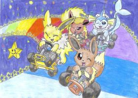 Eeveelution Kart by jackstar93