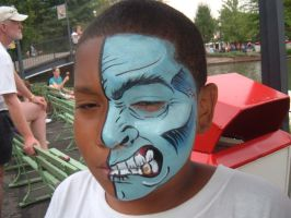 Face Paint- Half face by Jshibby