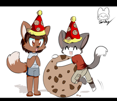 Commission: Chibi Birthday by SmilehKitteh
