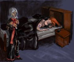 """Shhhh....Don't Wake 'Daddy'"" by pitbulllady"