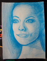Olivia Wilde - Blue Crayon by dustindowell22