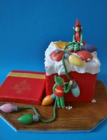 Christmas Cake - Box of Ornaments by sparks1992