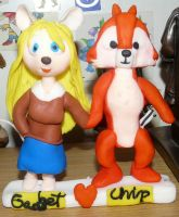 Chip and Gadget polyster clay sculpture by rozumek1993