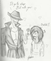 Offenderman (smexy) And Jeff the killer, DUDE!! by lucariolover1993
