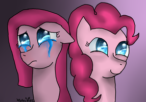 Two Sides Of Pinkie Pie by xCuteiKinz