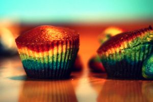 Rainbow muffins. by nosemouth