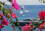 Boats and Bougainvillea by AgiVega