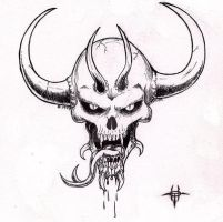 Demon Skull I by warhammer2000