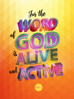 Hebrews 4:12 - Poster by mostpato