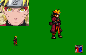 Naruto Sage Mode Sprite by DemonfoxKnight