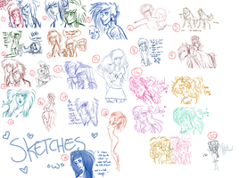 christ almighty that's what i call a sketchdump by baby--d0ll