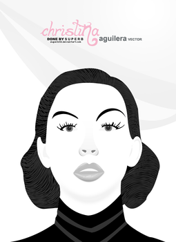 christina aguilera vector by superb93