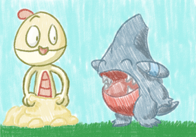 Scraggy and Gible by sweetinsanity364