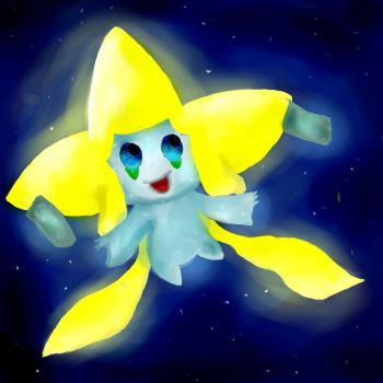 Jirachi the Wish Maker by Bailey-Draws
