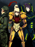 Metroid Prime Huntress Redux by Knight-Spectre