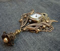 Floral Watch Brooch-Pendant by Aranwen