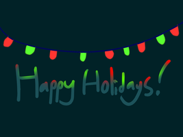 Holiday Card Project 2014, Card 3 by CreatureGuy