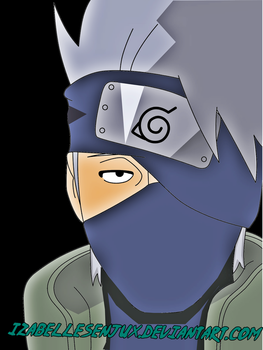 Kakashi hatake lineart colored by IzabelleSenjux