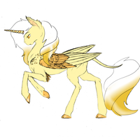 Gold alicorn OTA (CLOSED) by Monster-Drool