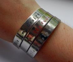 Hannibal Three Course Meal Bracelet Set by thnksfrthwilliam