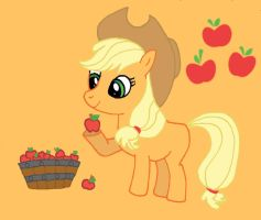 Applejack filly by Hiddenwithinthunder