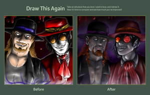 Draw this again - Undertaker and Alucard by FuriarossaAndMimma