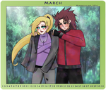March Chouino Calendar- With you I have no cold by HitoriLoveNejiHina