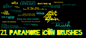Paramore icon brushes by outoftheblue15