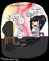 Sasuke Playing Halo Reach by LainaofthesandLOL