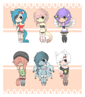 .:Random Adopts Set:. { closed } by curled-mustache