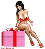 Denise Milani Christmas Gift by Chuck-Bauman