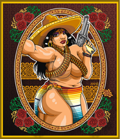 Bandita Mexican lady poster art by godzillasmash