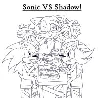 CM: Sonic VS Shadow-  Chili-Dog Contest by AdrixCosta