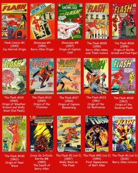 Flash Covers Through History by Jeffrey-Scott