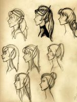 WoW: Character Sketches by katima