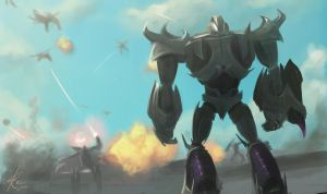 Decepticons Vs Insecticons battle by Raikoh-illust