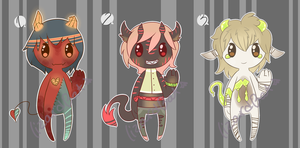 More Odd Demon Adopts (OPEN) by LizardBat