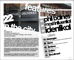 'Formulate' Mag Contents Page by fointypinger