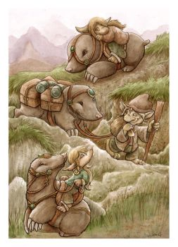 Mole People trekking by FriedaVanRaevels